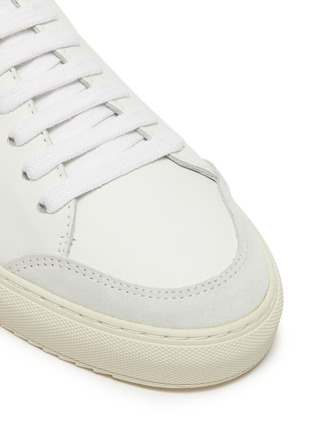 Detail View - Click To Enlarge - AXEL ARIGATO - 'Clean 90' glitter tab contrast tongue leather sneakers