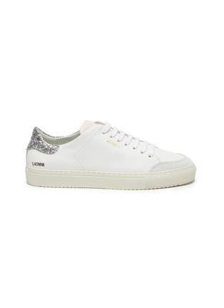 Main View - Click To Enlarge - AXEL ARIGATO - 'Clean 90' glitter tab contrast tongue leather sneakers