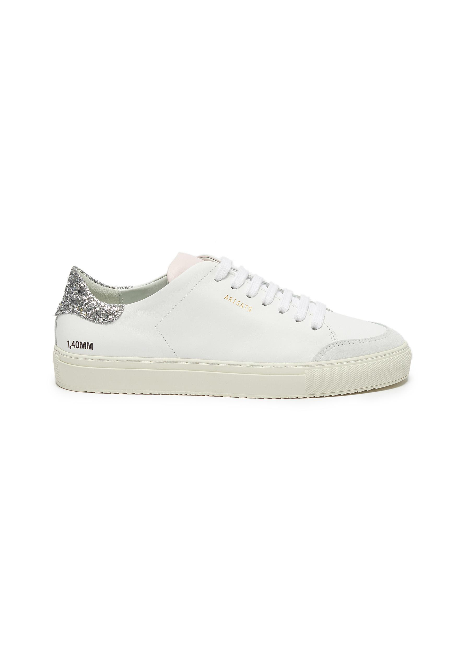 shop Axel Arigato 'Clean 90' glitter tab contrast tongue leather sneakers online