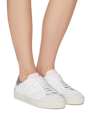 Figure View - Click To Enlarge - AXEL ARIGATO - 'Clean 90' glitter tab contrast tongue leather sneakers