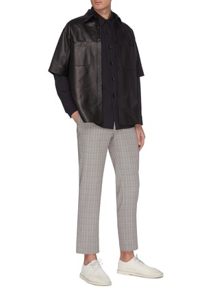 Figure View - Click To Enlarge - AURALEE - 'Hard Twist' check pants