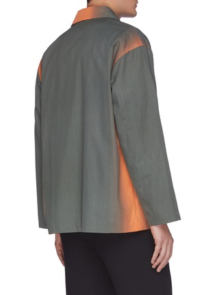 Back View - Click To Enlarge - AURALEE - 'Finx' gradient dyed shirt jacket