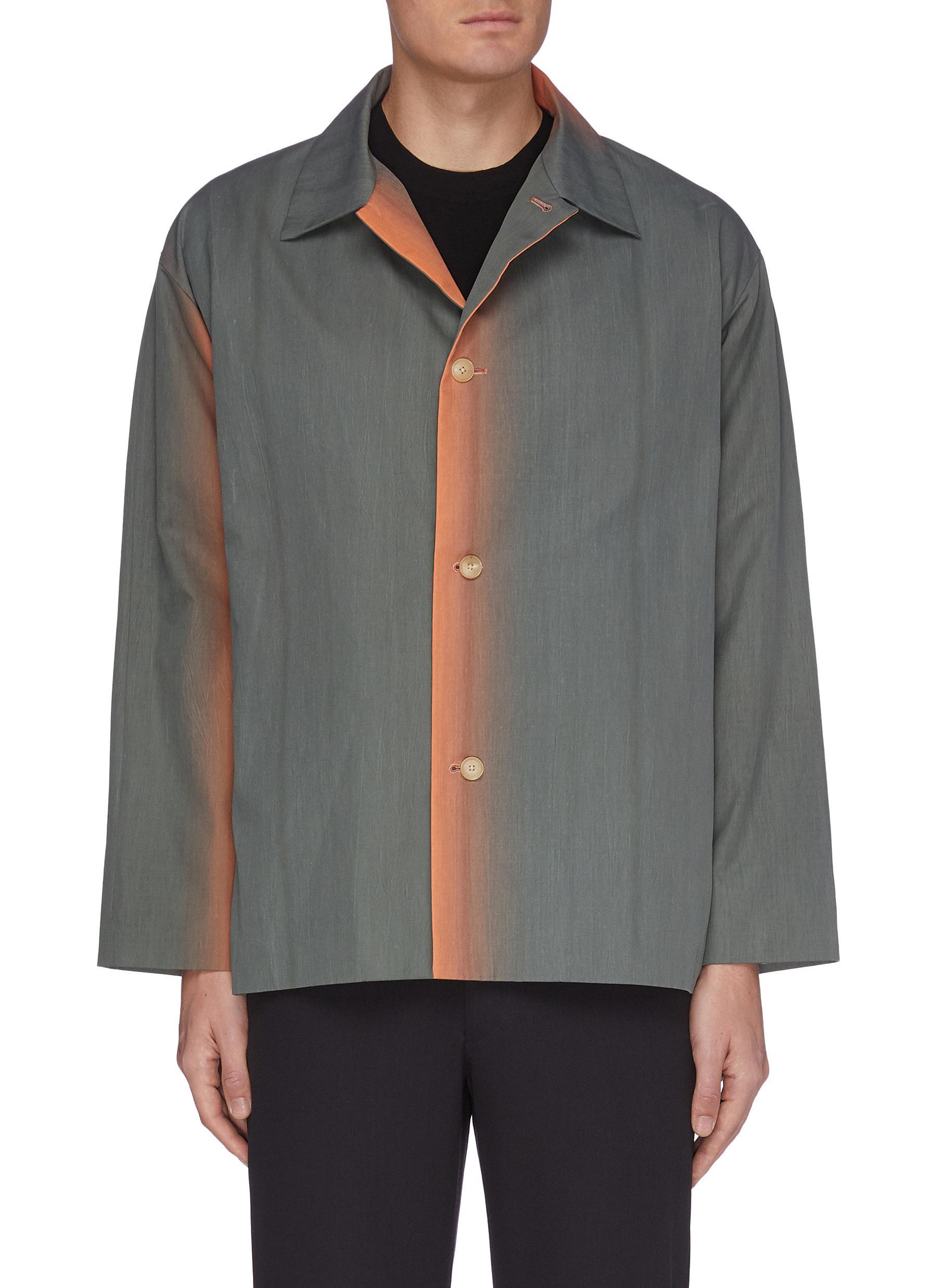 Auralee 'Finx' gradient dyed shirt jacket