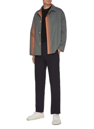 Figure View - Click To Enlarge - AURALEE - 'Finx' gradient dyed shirt jacket