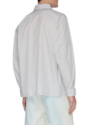 Back View - Click To Enlarge - AURALEE - Chest pocket zip shirt jacket