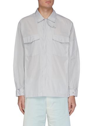 Main View - Click To Enlarge - AURALEE - Chest pocket zip shirt jacket