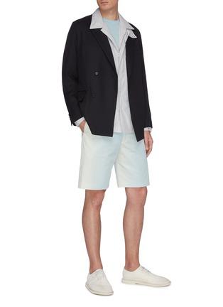 Figure View - Click To Enlarge - AURALEE - Chest pocket zip shirt jacket