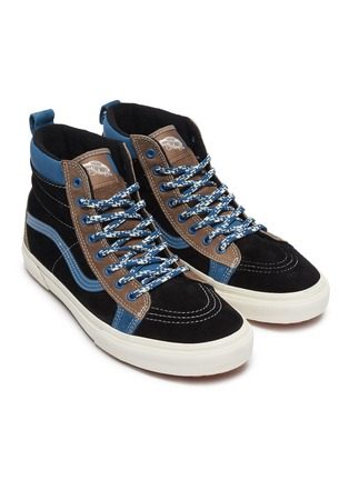 Detail View - Click To Enlarge - VANS - 'SK8-Hi MTE LX' colourblock suede high top sneakers