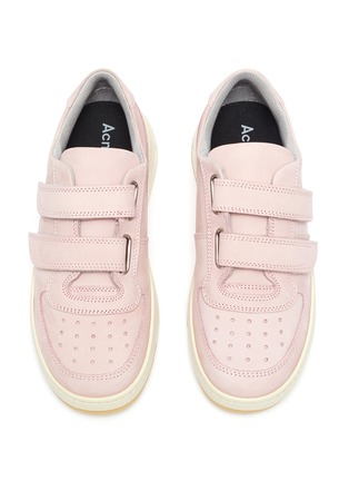 Figure View - Click To Enlarge - ACNE STUDIOS - Double velcro panel outsole kids leather sneakers