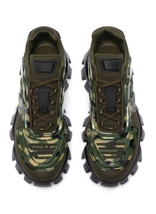 Detail View - Click To Enlarge - PRADA - Cloudbust Thunder' camo sneakers