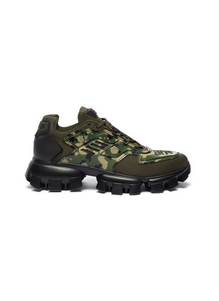 Main View - Click To Enlarge - PRADA - Cloudbust Thunder' camo sneakers