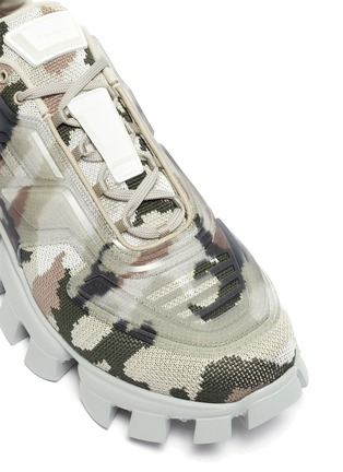 Detail View - Click To Enlarge - PRADA - 'Cloudbust Thunder' camo sneakers