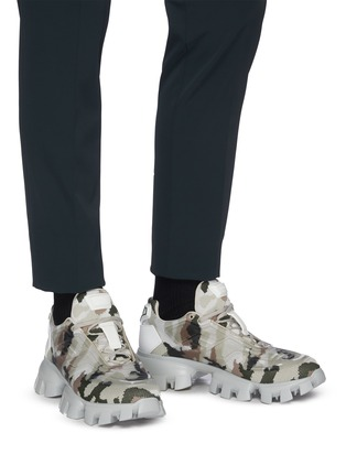 Figure View - Click To Enlarge - PRADA - 'Cloudbust Thunder' camo sneakers