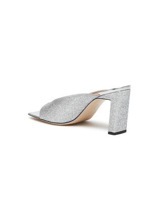 - WANDLER - 'Isa' square vamp glitter sandals