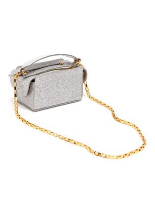 Detail View - Click To Enlarge - WANDLER - 'Yara' mini glitter top handle box bag