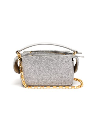 Main View - Click To Enlarge - WANDLER - 'Yara' mini glitter top handle box bag