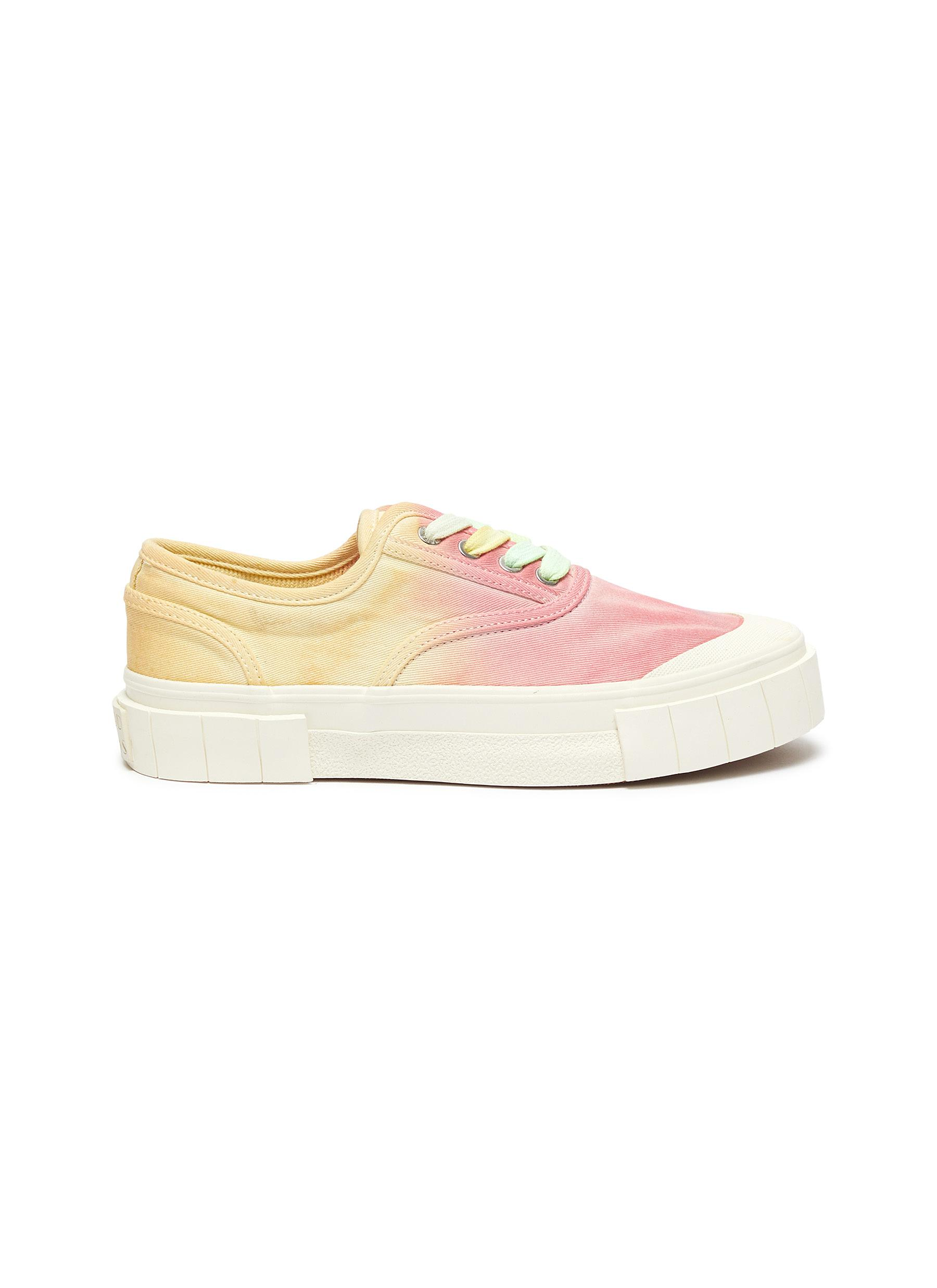 shop Good News 'Ace' tie dye canvas sneakers online