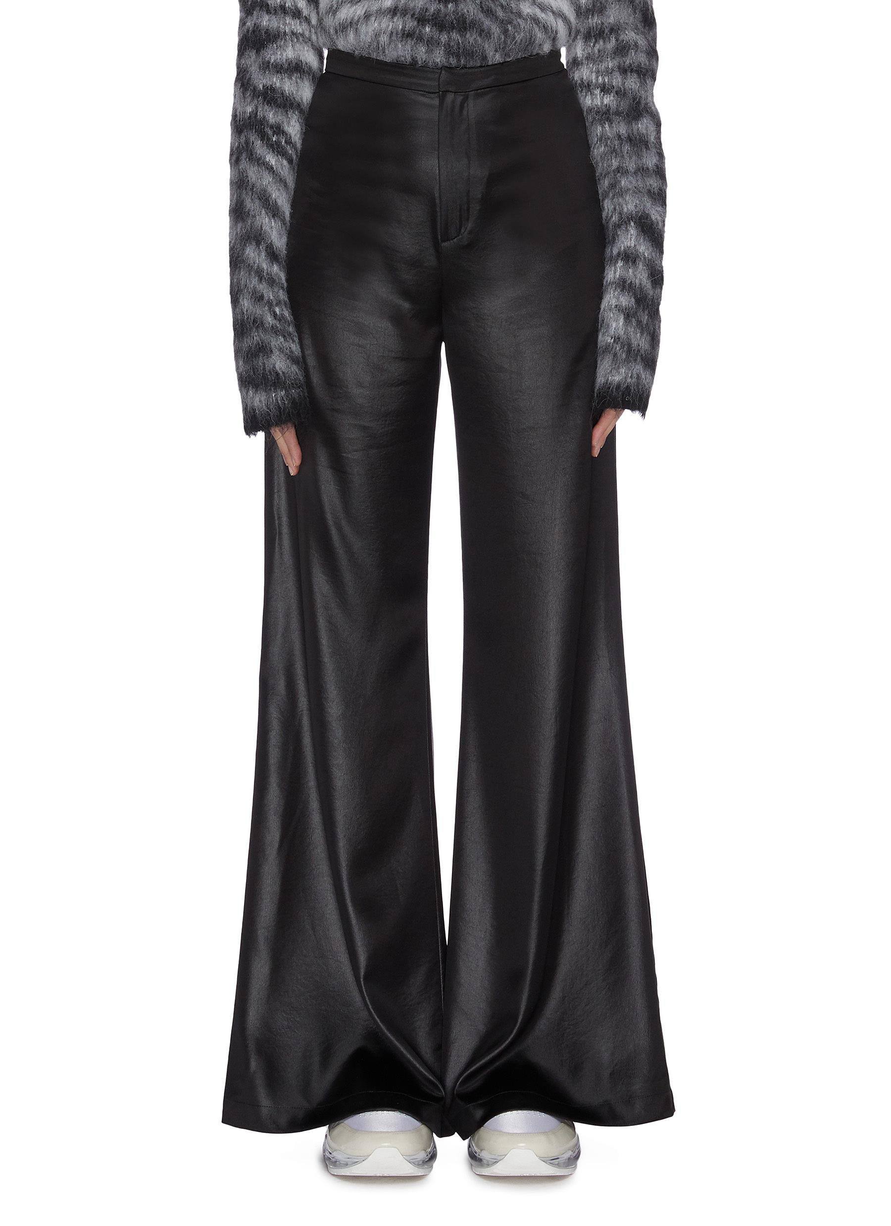 Buy Alexanderwang.T Pants & Shorts 'Wash & Go' wet shine pants