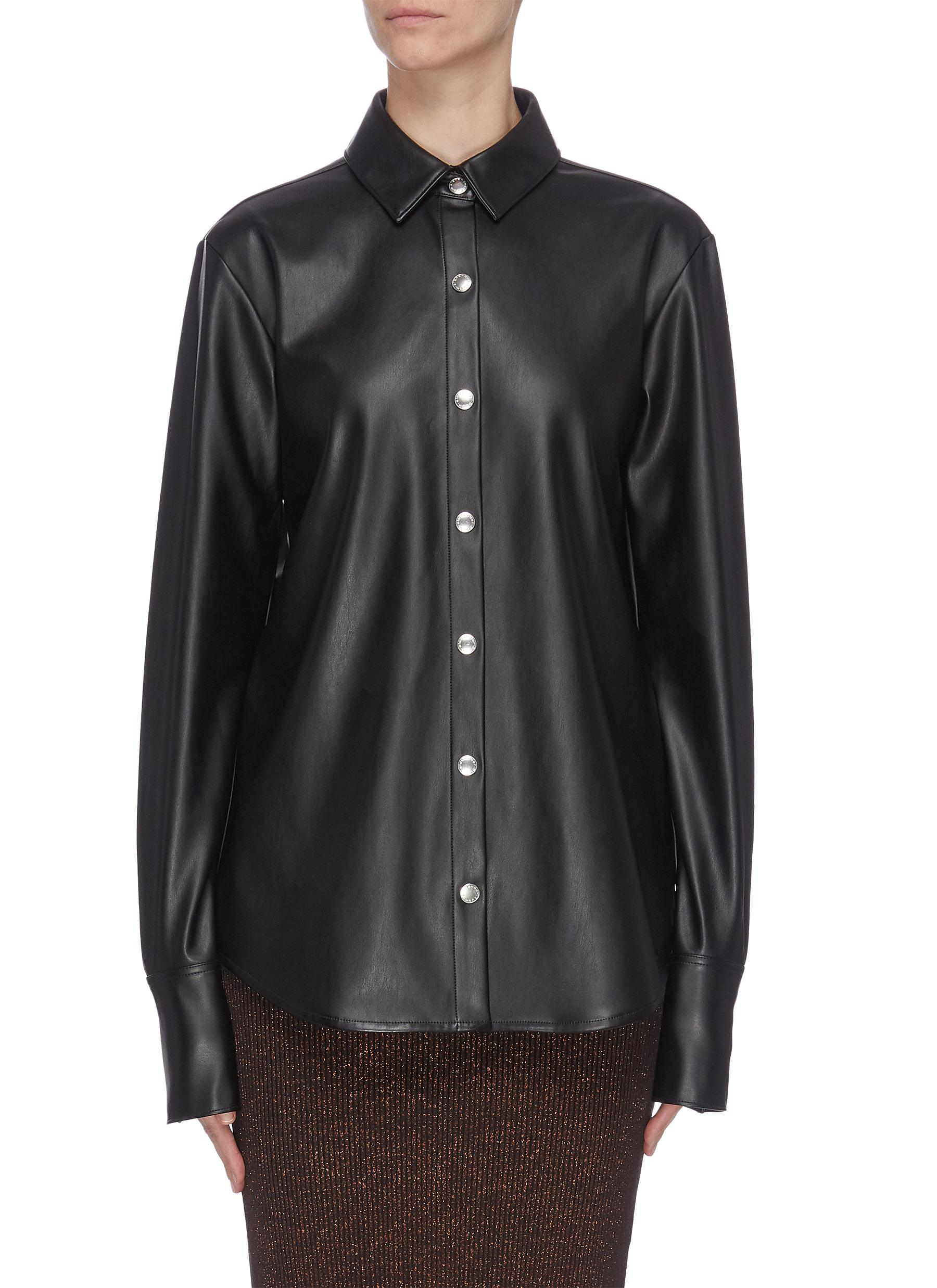 Buy Alexanderwang.T Tops Faux leather shirt