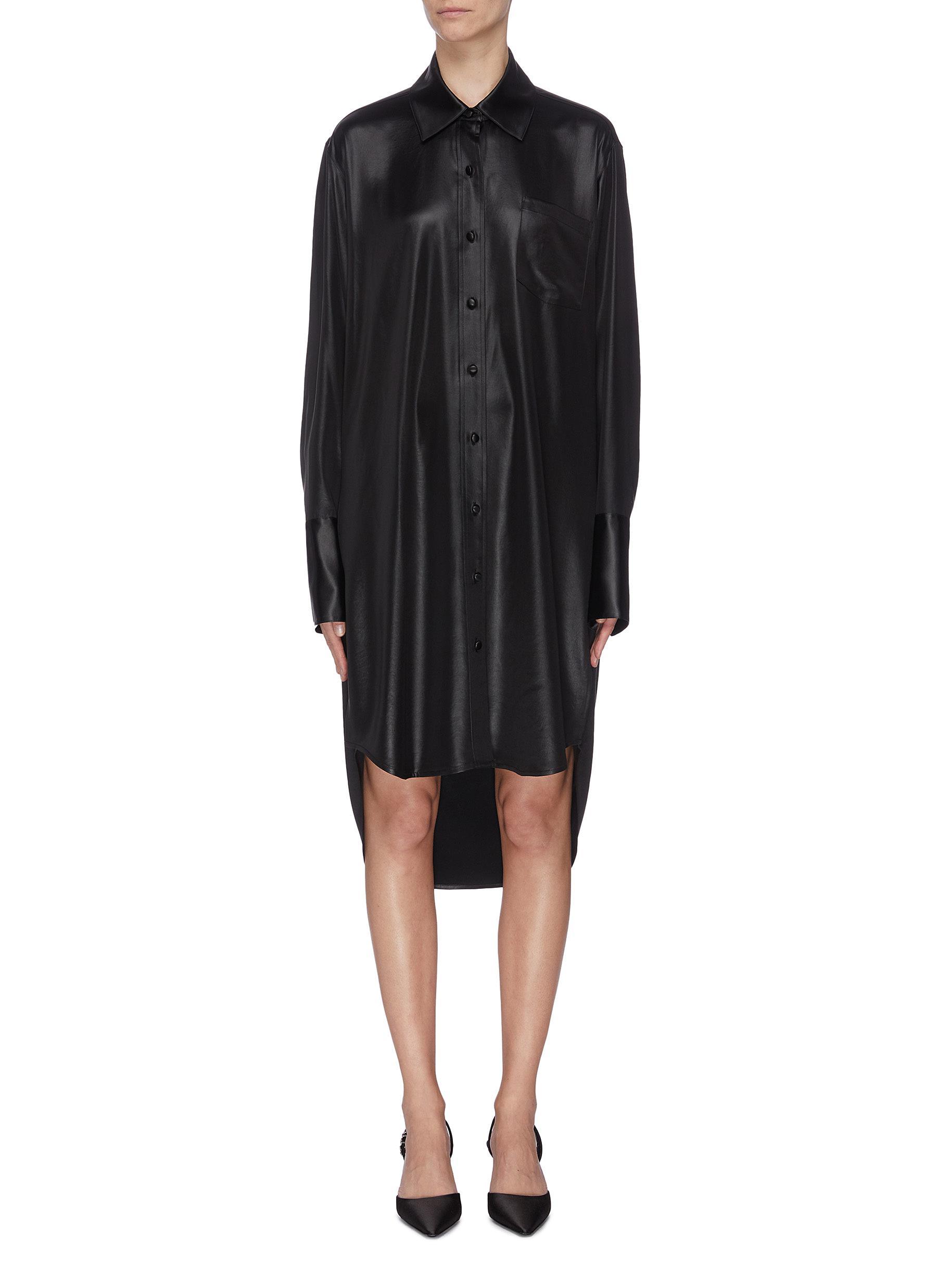 shop Alexanderwang.T Oversized high-low shirt dress online