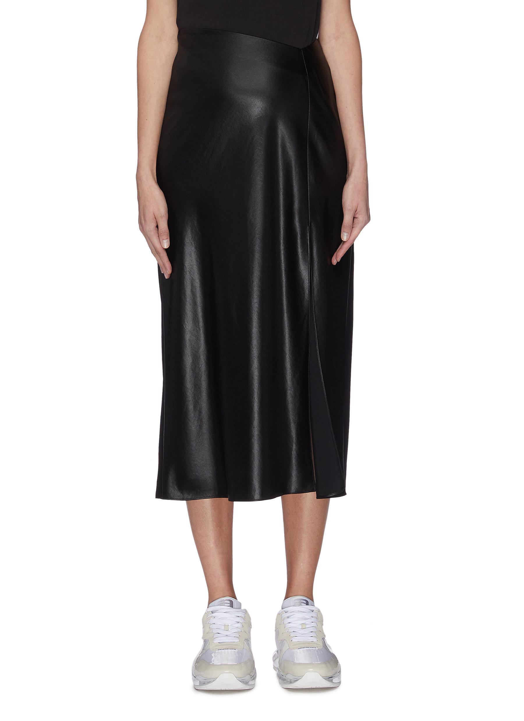 shop Alexanderwang.T 'Wash & Go' wet shine dipped waistband skirt online