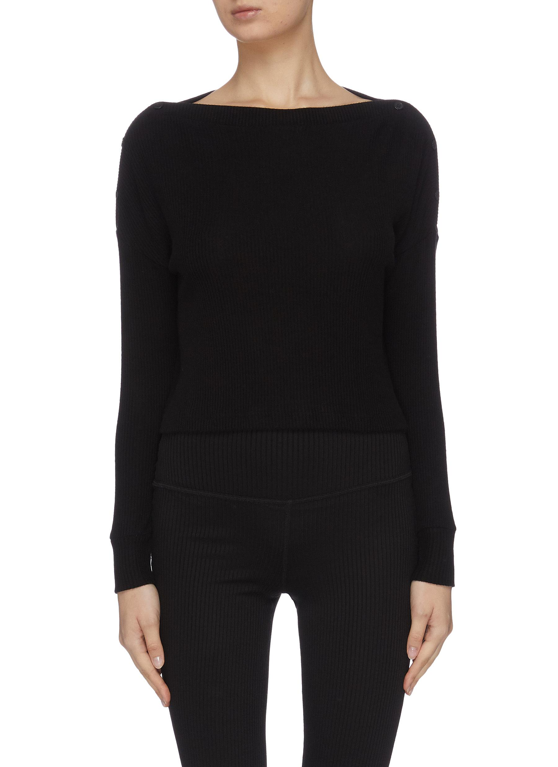 shop Beyond Yoga 'Your line' buttoned knit top online