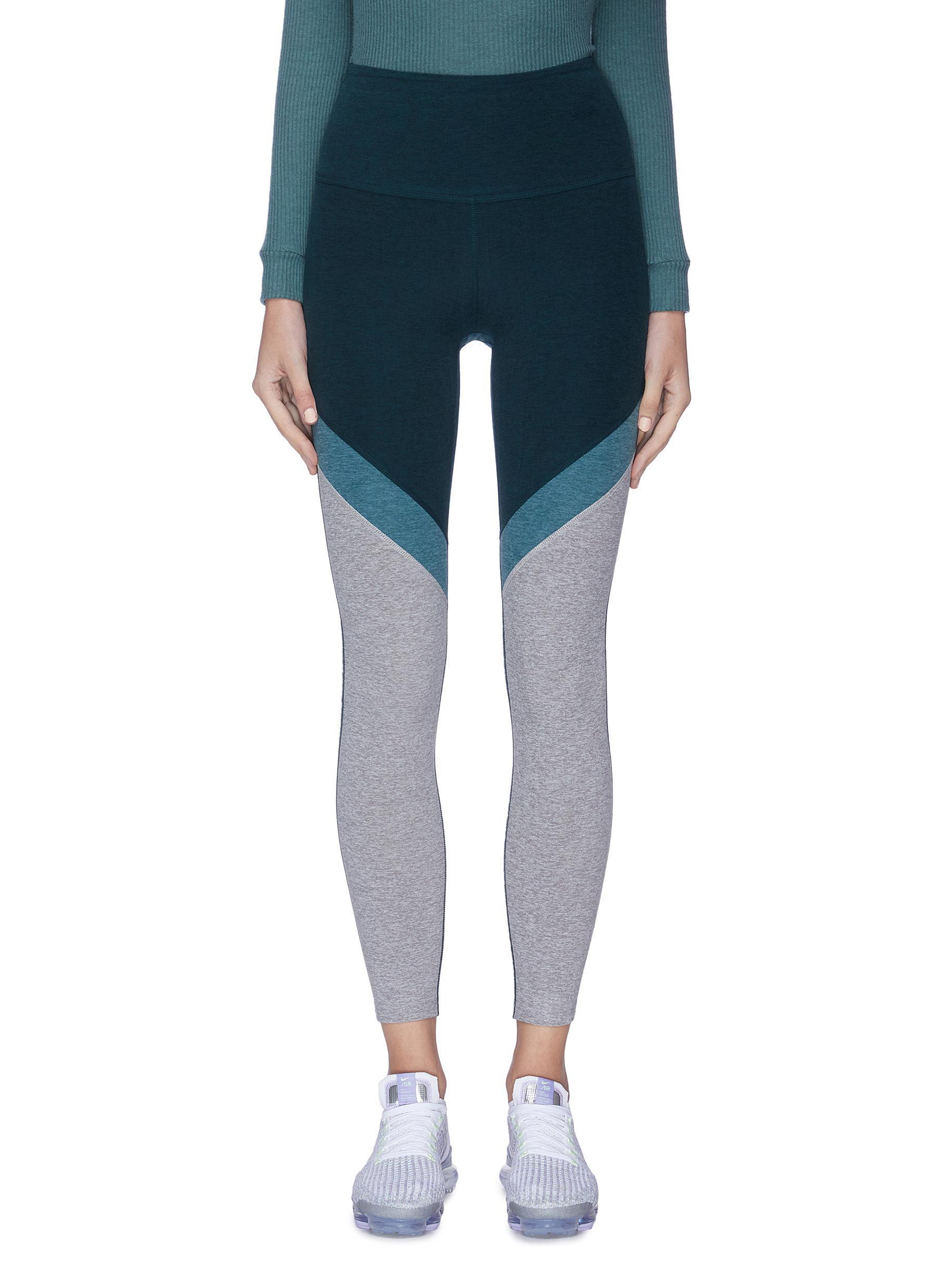 Buy Beyond Yoga Pants & Shorts Tri-panel' space dye high waisted midi leggings