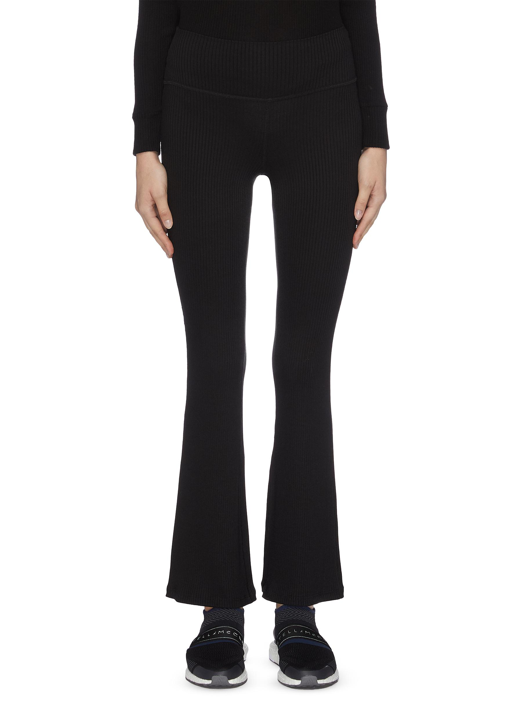 shop Beyond Yoga 'Step beyond' high waisted rib knit bell pants online