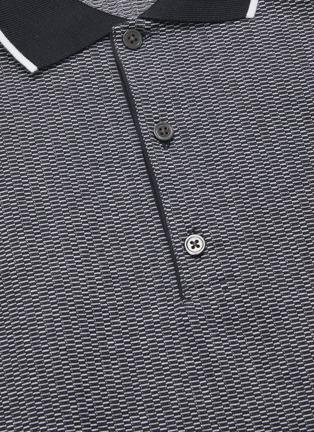 - THEORY - Geometric Knit Polo Shirt