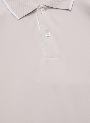 - THEORY - Piqué Cotton Polo Shirt