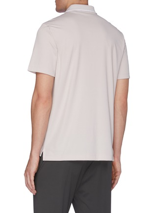 Back View - Click To Enlarge - THEORY - Piqué Cotton Polo Shirt