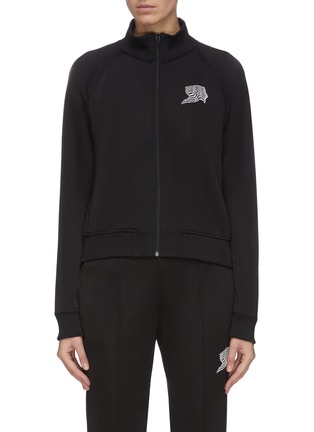 Main View - Click To Enlarge - ALEXANDERWANG.T - French terry embroidered track jacket