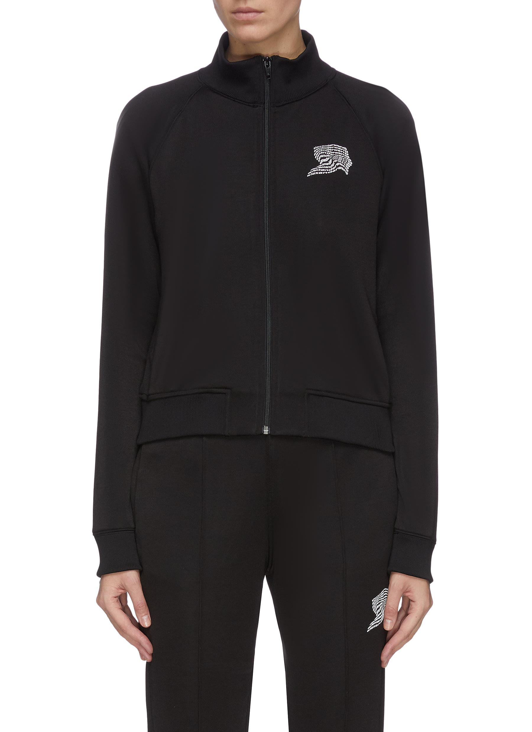 Buy Alexanderwang.T Jackets French terry embroidered track jacket