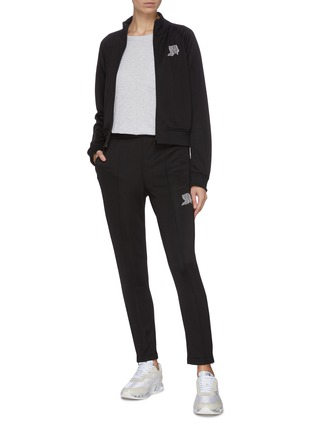 Figure View - Click To Enlarge - ALEXANDERWANG.T - French terry embroidered track jacket