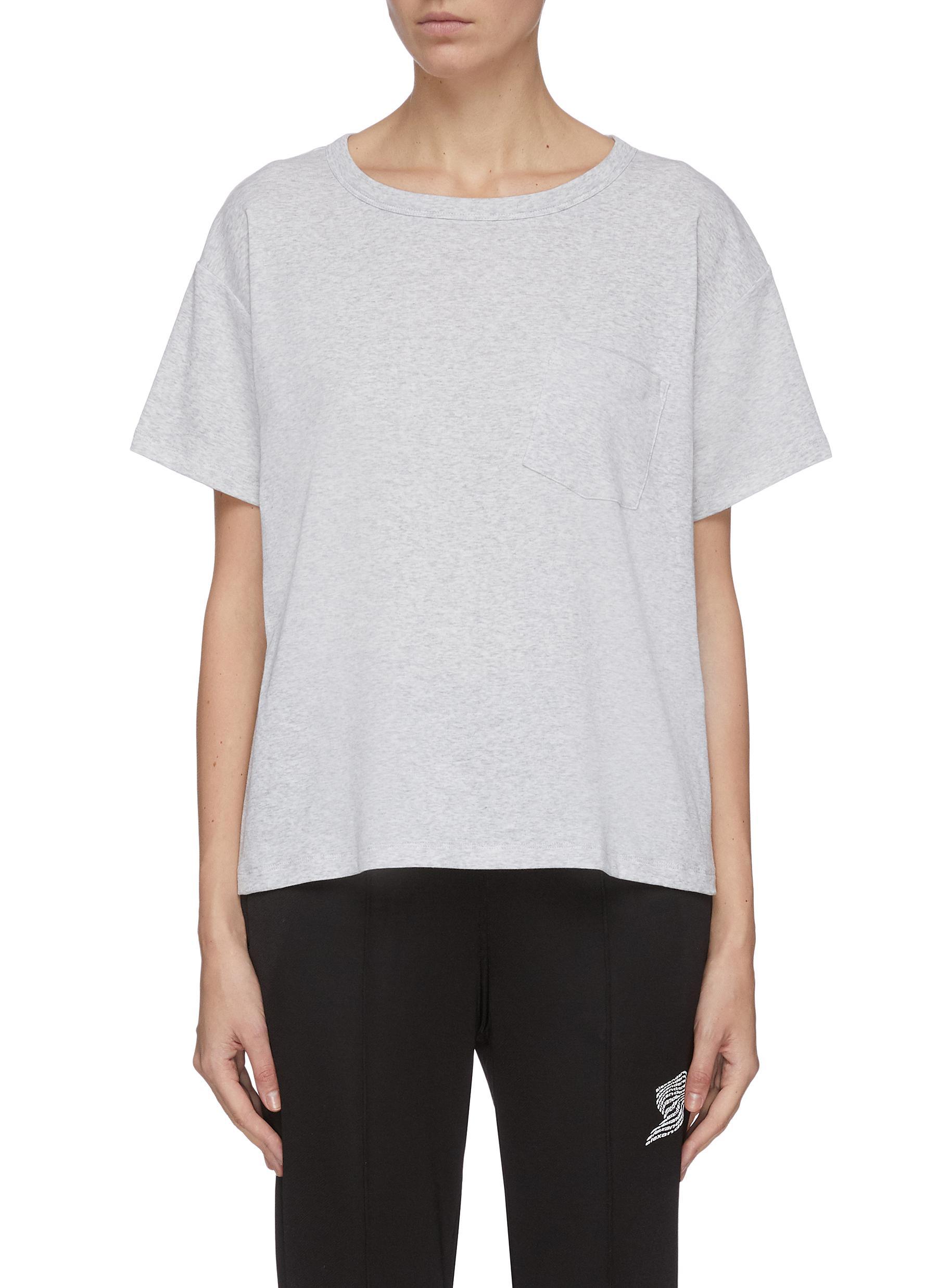 shop Alexanderwang.T Tilted pocket detail vintage T-shirt online