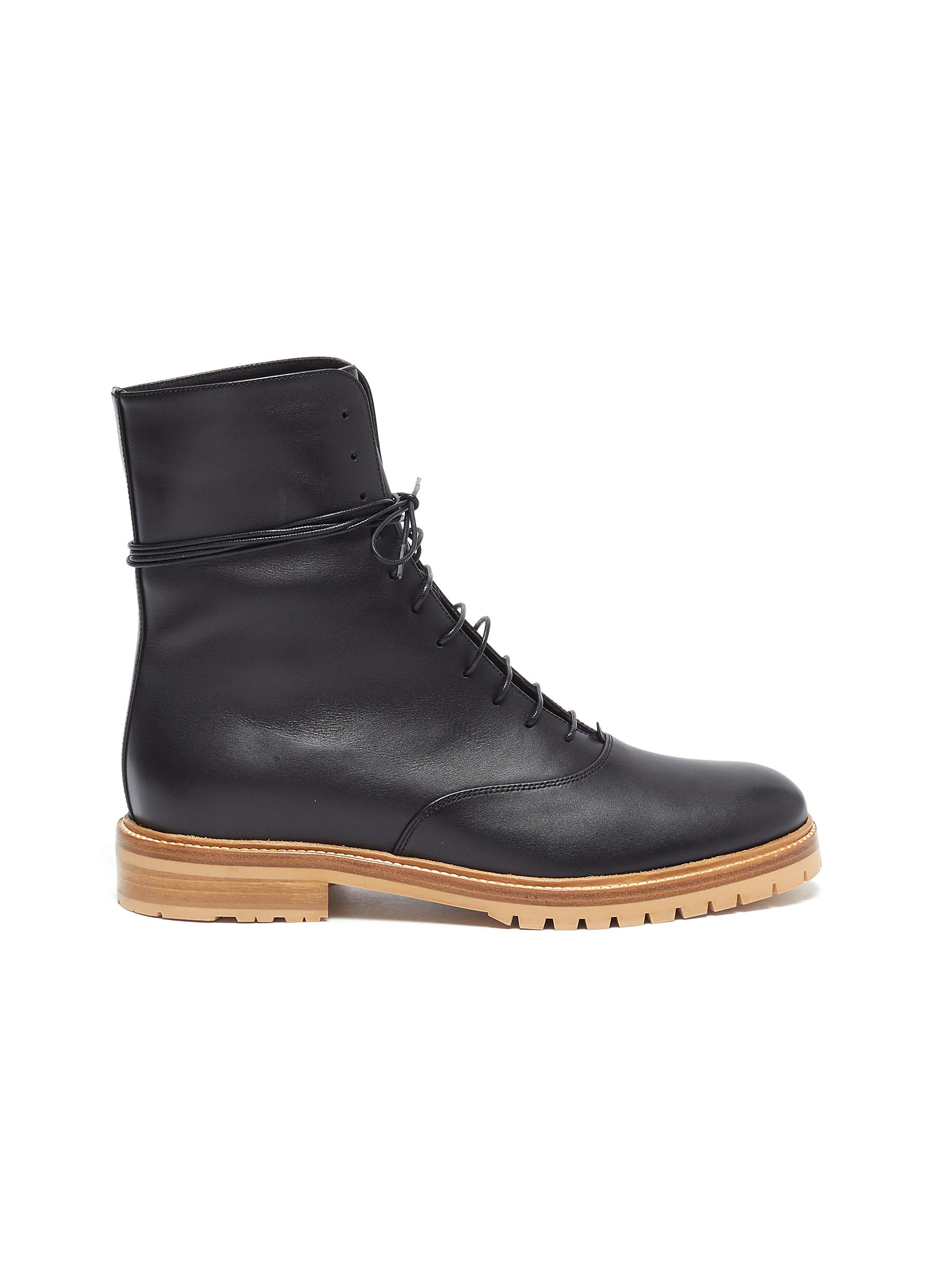 Gabriela Hearst Boots Ruben lace-up leather combat boots