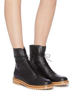Figure View - Click To Enlarge - GABRIELA HEARST - 'Ruben' lace-up leather combat boots