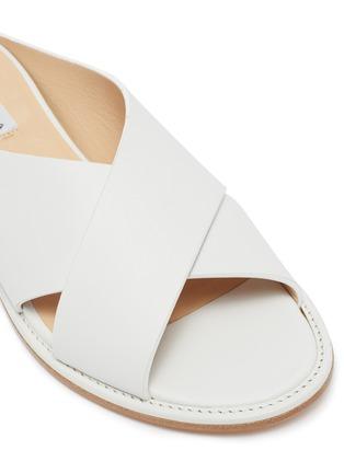 Detail View - Click To Enlarge - GABRIELA HEARST - Ellington cross strap leather flats
