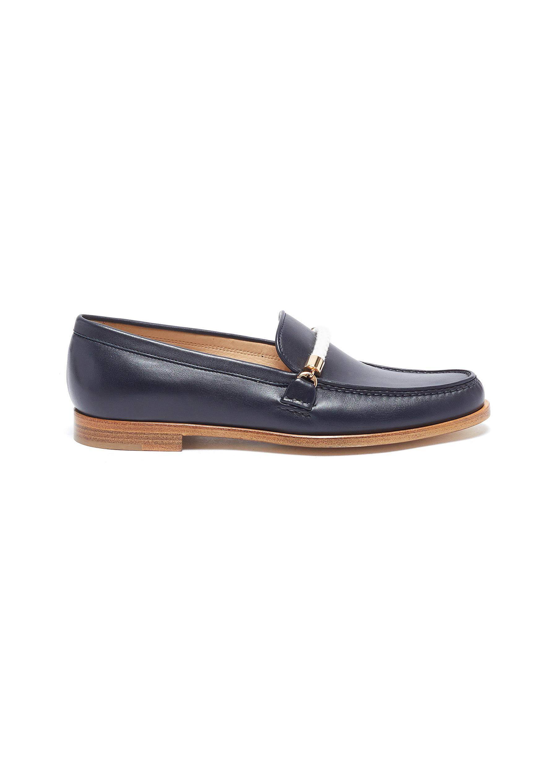 Gabriela Hearst Flats Renault rope detail leather loafers