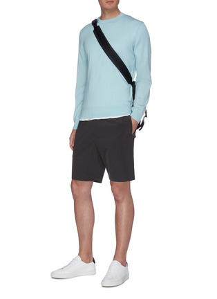 Figure View - Click To Enlarge - THEORY - 'Graham' Paper Nylon Shorts