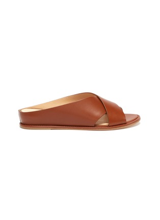 Main View - Click To Enlarge - GABRIELA HEARST - Ellington cross strap leather flats
