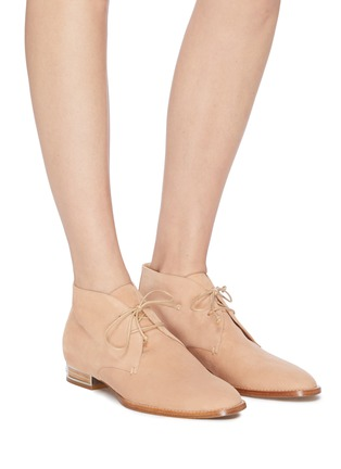 Figure View - Click To Enlarge - GABRIELA HEARST - Suede Shepard boots