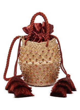 Main View - Click To Enlarge - LE NINÈ - 'Carol' tassel strap embellished basket bag