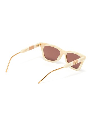 Figure View - Click To Enlarge - GUCCI - Marble effect acetate frame cat eye sunglasses