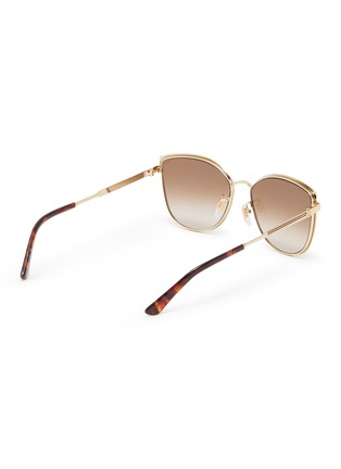 Figure View - Click To Enlarge - GUCCI - Large D-frame acetate frame metal temples sunglasses