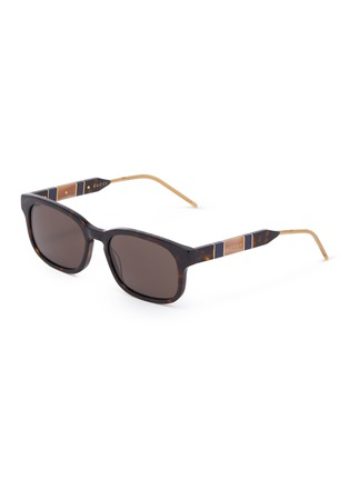 Main View - Click To Enlarge - GUCCI - Tortoiseshell effect acetate frame square sunglasses