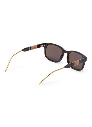 Figure View - Click To Enlarge - GUCCI - Tortoiseshell effect acetate frame square sunglasses