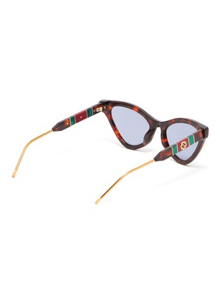 Figure View - Click To Enlarge - GUCCI - Tortoiseshell effect acetate frame cat eye sunglasses