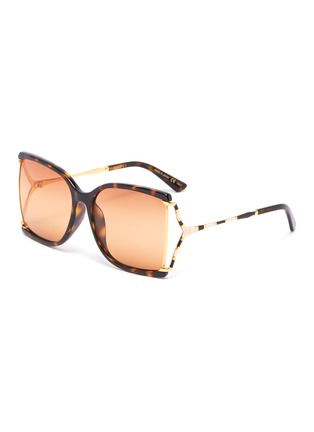 Main View - Click To Enlarge - GUCCI - Large square Y-shape temple acetate frame sunglasses