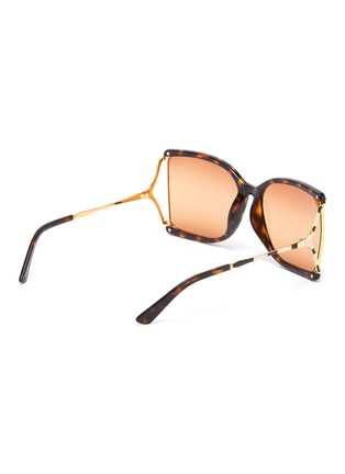 Figure View - Click To Enlarge - GUCCI - Large square Y-shape temple acetate frame sunglasses